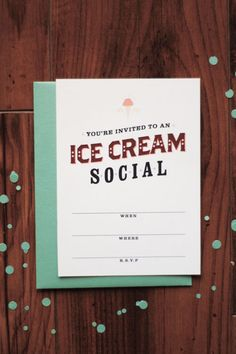 A Pair of Pears: For the Taking: Printable Ice Cream Social Invitation