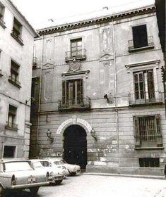 Murcia, Palacio de la Marquesa de Salinas DESTRUIDO en la calle de Riquelme, donde se podía visitar el Belén de Salzillo (Foto de los años cincuenta cuando era sede de la Diputación)