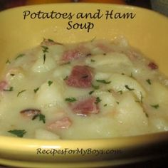 Potatoes and Ham Soup