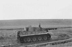 A German soldier sitting on a Pz. Kpfw. VI tiger near Kalinin oblast Russia 1943 Author: Franz Grasser #worldwar2 #tanks