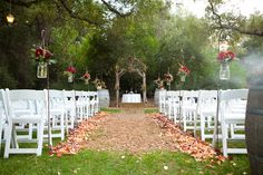 Rustic Outdoor Wedding Decorations | ... through so many of the weddings we feature here on rustic wedding chic