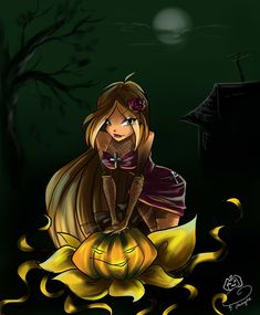 Flora Happy Halloween by fantazyme.deviantart.com on @deviantART