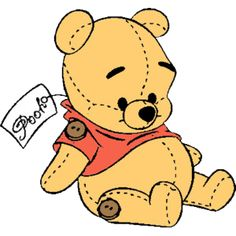 Pooh baby clipart