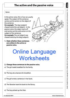Education worksheets for Grade R - 12 - E-Classroom Social Science, Science And Technology, Active And Passive Voice, Apraxia, School Worksheets, Life Skills, English Language, Sentences, The Voice