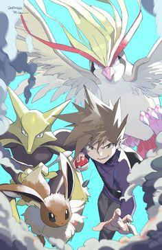 Fotos Do Pokemon, Pokemon Red, Pokemon Memes, Pokemon Fan Art, Cute Pokemon, Gary Oak, Pokemon Special, Fanart, Pokemon Pictures