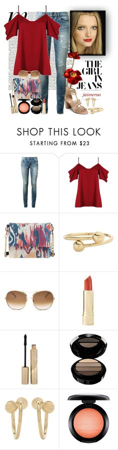 """Casual Spring Date"" by jaimeroo ❤ liked on Polyvore featuring Yves Saint Laurent, Boohoo, Neiman Marcus, J.W. Anderson, Chloé, Stila, Giorgio Armani, MAC Cosmetics and Aerosoles"
