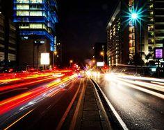 Grayston Drive | Sandton | Johannesburg | South Africa.  #nightmissions #longexposure #lighttrailsphotography