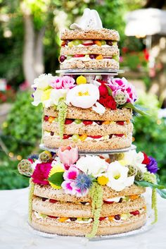 Wow - beautiful and unique wedding cake!  By The Bungalow - as soon on Blossom Sweet blog.