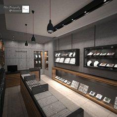 Jewellery Shop Design, Jewellery Showroom, Showroom Interior Design, Store Interiors, Space Saving Furniture, Jewelry Stores, Jewelry Companies, Jewelry Shop, Jewelry Art