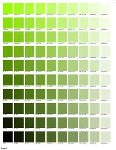 30 pages of RGB codes ready to print for color matching in smooth transitions. Green Color Chart, Color Mixing Chart, Colour Chart, Green Pallete, Skin Color Palette, Rgb Color Codes, Pantone Color Chart, Color Psychology, Color Swatches