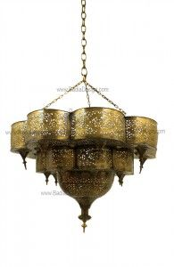 living room - brass ceiling light