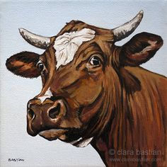 Cow Paintings On Canvas, Animal Paintings, Animal Drawings, Art Drawings, Original Paintings, Cow Pictures, Pictures To Paint, Cute Baby Cow, Rooster Painting