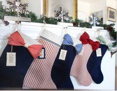 ELEGANT Christmas Stockings : Personalized Christmas Stocking. $29.99, via Etsy.