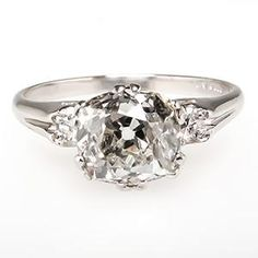 Antique Old Mine Cut Diamond Engagement Ring... | StyleCaster