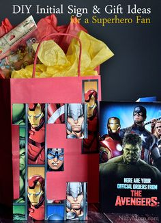 DIY Initial Sign & Gift Ideas for a Superhero Fan #SendSmiles