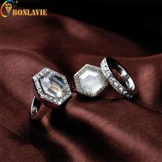 3 Pcs/set Women Wedding Ring Fashion Engagement Band Rings Boho Jewelry Fashion Bohemia Antique Silver Color Jewelry Party Gift