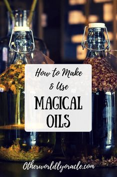 Learn how to make your own magical oils: herb infused oils, magical oils recipes. - I Want Magic - Learn how to make your own magical oils: herb infused oils, magical oils recipes, essential oil com - Magic Herbs, Herbal Magic, Herbal Oil, Herbal Shop, Healing Oils, Healing Herbs, Making Essential Oils, Essential Oil Blends, Potions Recipes