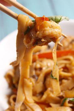 We're Drunk In Love With Our Shrimp Drunken Noodles