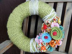 Fabric flowers and felt flowers