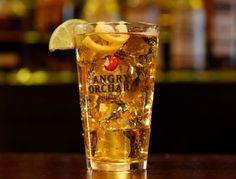 Angry Captn' must try. In a pint glass over ice combine 1.5oz spiced rum with Angry Orchard Crisp Apple
