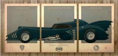 Batmobile '89 poster set