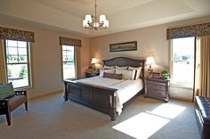 Owner bedroom, Aspen V model home. Homes By Towne, Wisconsin. http://www.homesbytowne.com/states/wisconsin.html