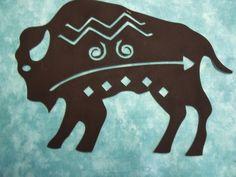 native american indians Indian Buffalo Symbol Silhouette - comes In 3 sizes & Native American Symbols, Native American Design, Native American Crafts, American Indian Art, Native American Indians, Indian Symbols, Tribal Symbols, Buffalo Art, Southwestern Art