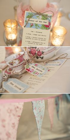 pretty tea-party theme and bunting