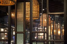 Street at Asian Corner restaurant by TD solutions, Ho Chi Minh City – Vietnam Corner Restaurant, Glass Restaurant, Cafe Restaurant, Vietnam Restaurant, Modern Chinese Interior, Asian Cafe, Thai Cafe, Asian Restaurants, Divider