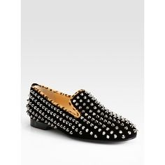 studded smoking slippers louboutin