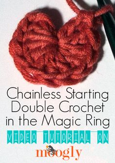 How to crochet the Chainless Starting Double Crochet in the Magic Ring!  Video and photo tutorial.