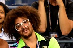 RedFoo from LMFAO watching second round action  at Arthur Ashe Stadium - Rob Loud/USTA #USOpen