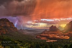 Sedona Sunrise and Sunset | Perfect Storm by guyschmickle | birdmanps
