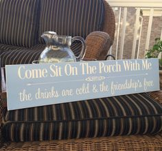 Porch Sign  Come Sit On The Porch With Me  by HeartfeltByDonna