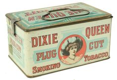 Dixie Queen Plug Cut Smoking Tobacco Tin ~ sold for $200.00
