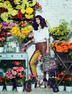 P.S. Korea: Flower House, Vogue Korea March 2013