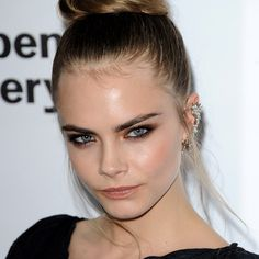 Cara Delevingne's Brown Smoky Eye.