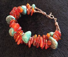 Baltic Amber and turquoise Double Strand Bracelet by NaturalMalaCollector on Etsy https://www.etsy.com/ca/listing/502866896/baltic-amber-and-turquoise-double-strand