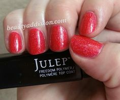 Mani featuring @Julie Pritchard Freedom Top Coat! #sephoranailspotting