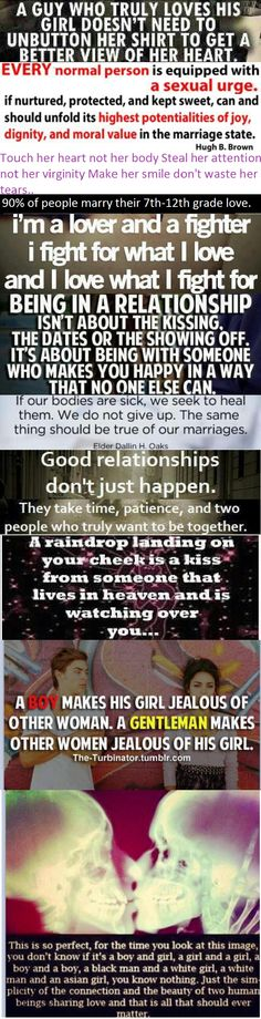 "I personally like the ""90% of people marry their 7th-12th grade love"" . . ."