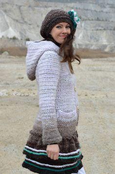 Soft Winter- Crochet Sweater, Jacket, Cardigan...