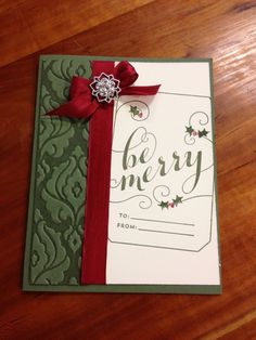 Be merry card Stampin up!