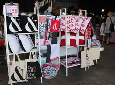 Market stall at Finders Keepers Market via Design Files