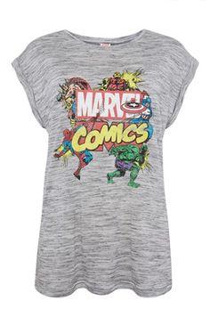 Grey Marvel Comics T-Shirt