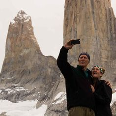 Family exploration of the towers base. Picture by our trekking guide @foto_arivera featuring our guest @bob10120 and his daughter! #Patagonia #Instapic #Hiking #Chile #Travel #Mountains #Trekking #Landscape