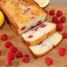 Raspberry lemon bread