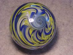 "Sam Hogue 2 15"" Marble Signed ""Sam Hogue 10"" White Solid Core Swirl Y MARB11 | eBay"