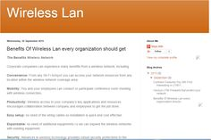 Benefits of wireless lan every organization should get