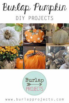 Burlap Pumpkin DIY Projects