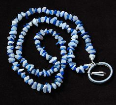 Lapis Lazuli & Blue Lace Agate ID Badge by ExoticTreasuresJewel, $40.00  Price includes free USPS priority mail in USA